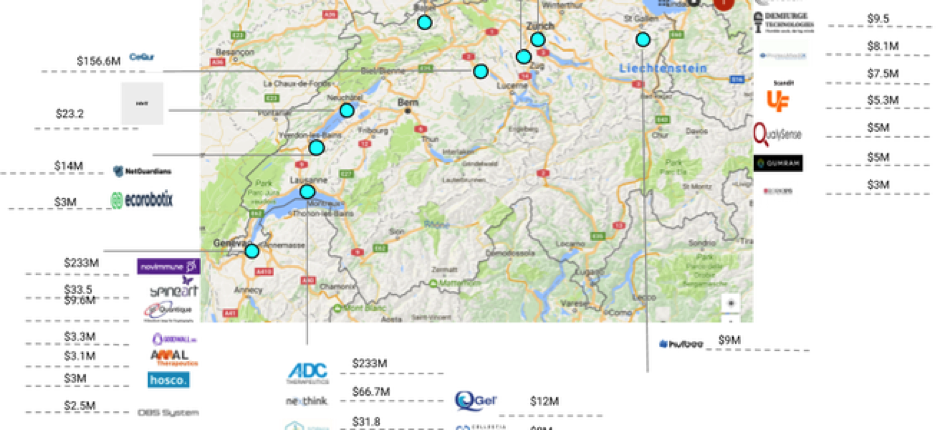 Best-funded-Swiss-Startups-Map
